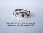 band am and cz ring